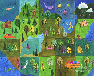 Explore Drawing - Wanderlust by Kate Cosgrove