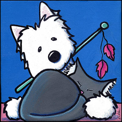 Westie Terrier Painting - Wanna Play? by Kim Niles