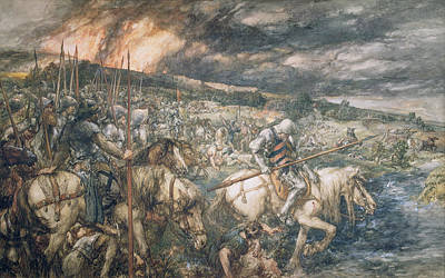 Horseback Painting - War  After The Battle by Sir John Gilbert
