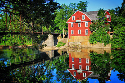 War Eagle Mill And Bridge - Arkansas Print by Gregory Ballos