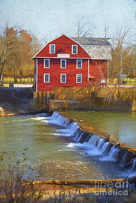 Arkansas Digital Art - War Eagle Mill by Elena Nosyreva