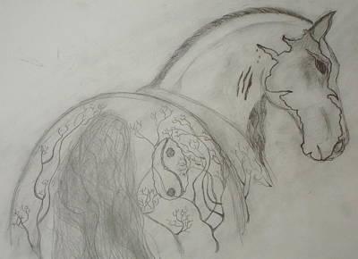 Horses Painting - War Horse by CA Lemieux