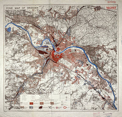 Dresden Photograph - War Map Of Dresden by British Library