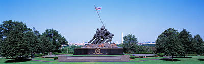 War Memorial Photograph - War Memorial With Washington Monument by Panoramic Images