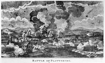 War Of 1812 Painting - War Of 1812 Plattsburgh by Granger