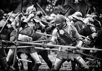 Historical Re-enactments Photograph - War Of The Roses Medieval Knights  by Tim Gainey