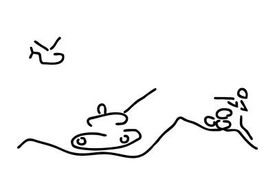 Helicopter Drawing - War With Helicopter Tank And Gun Shooter by Lineamentum