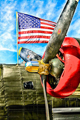 Us Flag Mixed Media - Warbird Pride by Chas Burnam