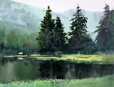 Sitka Painting - Ward Lake Ketchikan by Vladimir Zhikhartsev