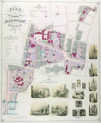 Ward Of Farringdon Print by British Library