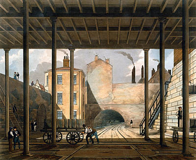 Warehouses Etc At The End Of The Tunnel Print by Thomas Talbot Bury