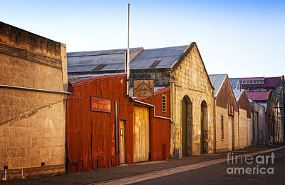 In A Row Photograph - Warehouses In Oamaru Otago New Zealand by Colin and Linda McKie