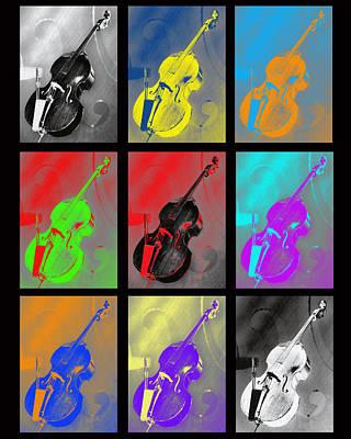 Viola Digital Art - Warhol Bass by Lisa A Bello