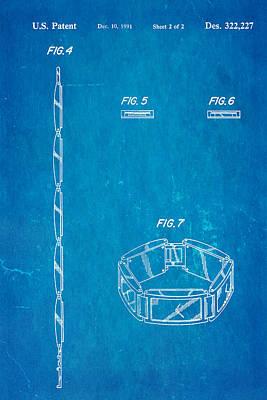 2 Faces Photograph - Warhol Five Face Watch 2 Patent Art 1991 Blueprint by Ian Monk