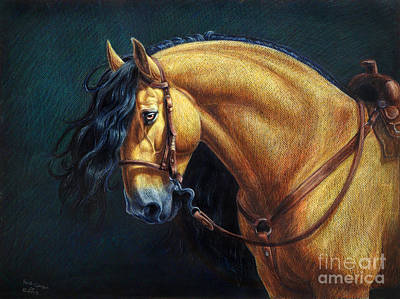 Colored Pencil Painting - Warlander Stallion by Heidi Carson