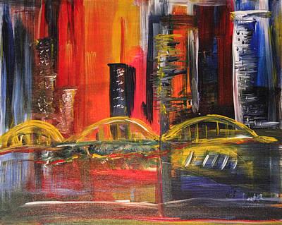 Warm Nights City Beats Original by Pamela Cooper