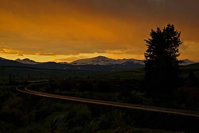 Photograph - Warm Rails by Jeremy Rhoades