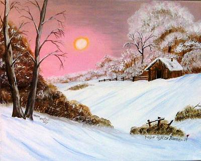 White House Mixed Media - Warm Winter Day by Evelyn Bloomer