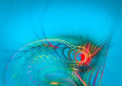 Contemporary Digital Art - Warming Up The Blues by Modern Art Prints