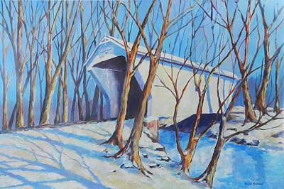 Painting - Warnke Bridge Preble County by David  Maynard