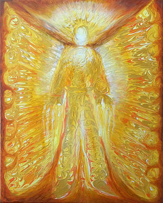 Angels Painting - Warrior Angel by Anne Cameron Cutri