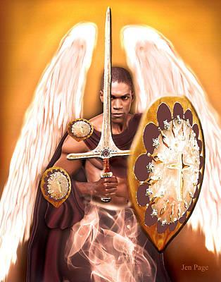 Warrior Angel Print by Jennifer Page