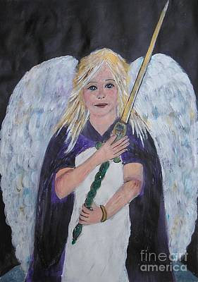 Peace Bleeding Painting - Warrior Angel by Karen Jane Jones
