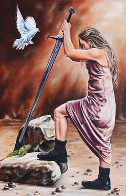Painting - Warrior by Ilse Kleyn