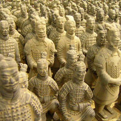 Terra Cotta Soldiers Photograph - Warriors by Leana Levinsohn