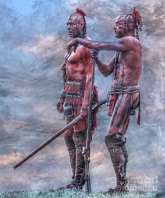 Huron Indian Digital Art - Warriors by Randy Steele