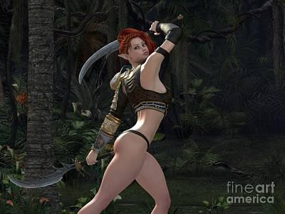 Faery Digital Art - Warriors Resolve by Alexander Butler