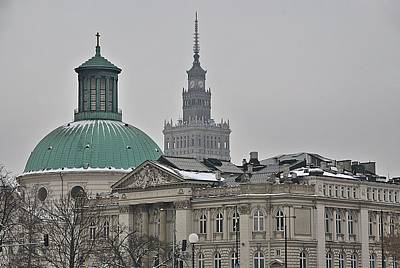 Warsaw Study In Architecture Print by Steven Richman
