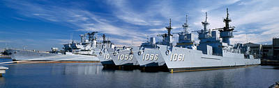 Warships Photograph - Warships At A Naval Base, Philadelphia by Panoramic Images