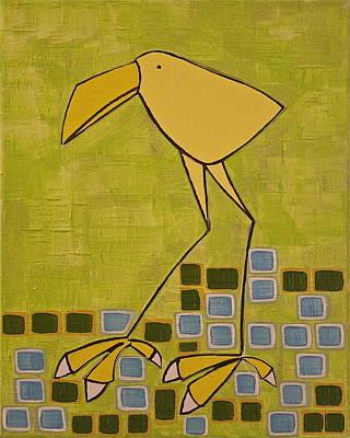 Wary Canary Print by Donna Howard