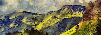 Southern Utah Painting - Wasatch Range Spring Colors by Dan Sproul