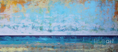 Abstract Beach Landscape Painting - Washed Out by Sean Hagan