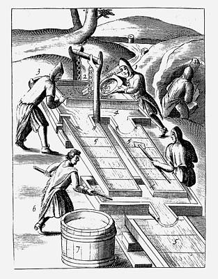 Washing Ore To Extract Gold Print by Universal History Archive/uig