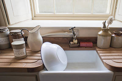 Washing Up Sink Print by Tom Gowanlock