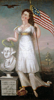American Eagle Painting - Washington & Liberty, C1810 by Granger
