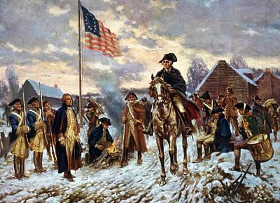 Washington At Valley Forge Print by Edward Moran