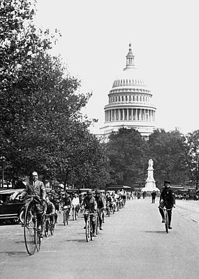 Washington Bicycle Parade Print by Underwood Archives