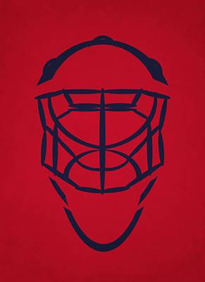 Hockey Photograph - Washington Capitals Goalie Mask by Joe Hamilton