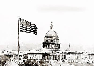 Federal Government Painting - Washington Dc 1928 by Helge