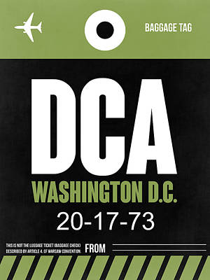 Washington D.c Digital Art - Washington D.c. Airport Poster 2 by Naxart Studio