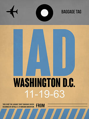Washington D.c Digital Art - Washington D.c. Airport Poster 3 by Naxart Studio