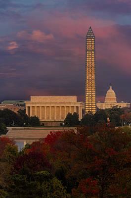 Landscape Photograph - Washington Dc Iconic Landmarks by Susan Candelario