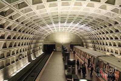 Washington Dc Metro Interior Print by Jannis Werner