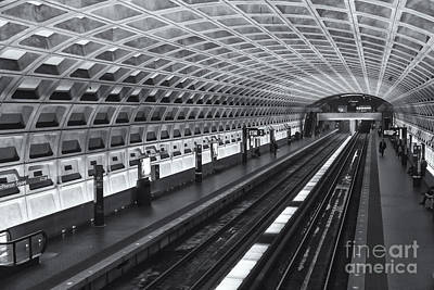 Washington Dc Metro Station I Print by Clarence Holmes