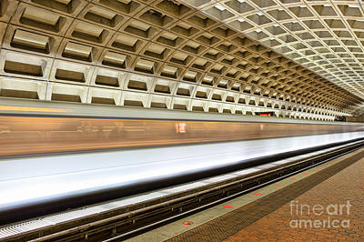 Washington Dc Metro Station Vii Print by Clarence Holmes
