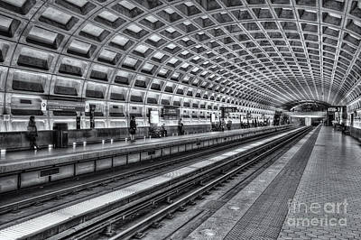 Washington Dc Metro Station X Print by Clarence Holmes